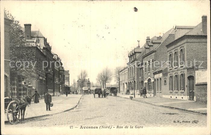 Avesnes Rue de la Gare Kat. Avesnes