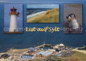 Sylt Leuchtturm Seehund  Kat. Sylt Ost