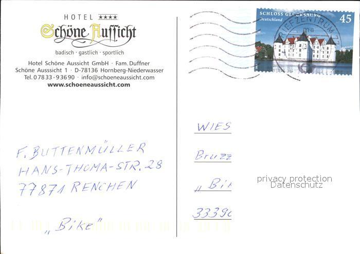 Niederwasser Hotel Schoene Aussicht Kat Hornberg