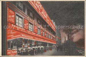Paris Chez Fleck Grande Brasserie Alsacienne Kat. Paris