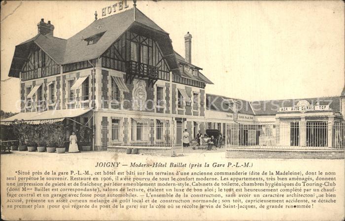 Joigny Yonne Modern Hotel Baillet pres la Gare PLM Kat. Joigny
