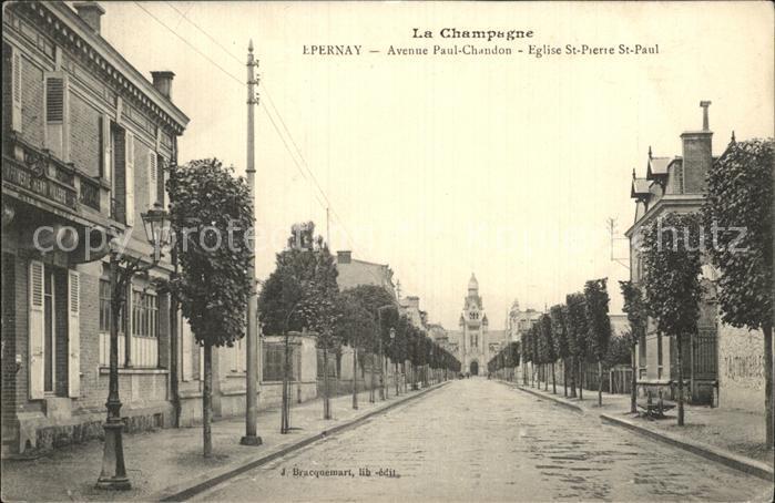 Epernay Marne Avenue Paul Chandom Eglise Saint Pierre Saint Paul Kat. Epernay