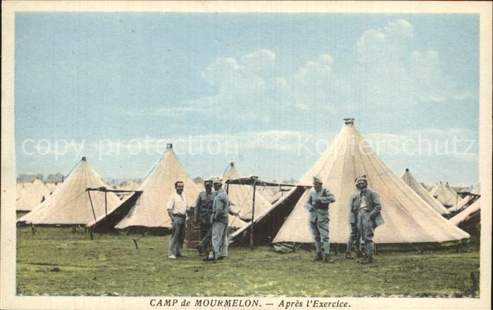Mourmelon le Grand Camp Soldats apres l Exercice Kat. Mourmelon le Grand