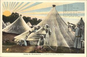 Camp de Mourmelon 5 heures le matin Le reveil Soldats Militaire