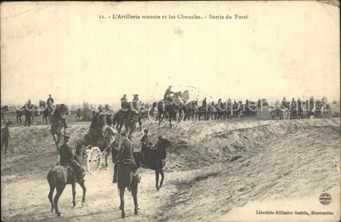 Mourmelon le Grand Artillerie montee et les Obstacles Sortie du Fosse Kat. Mourmelon le Grand