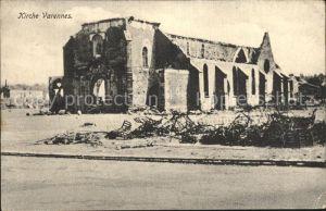 Varennes en Argonne Eglise Grande Guerre Kirche Truemmer 1. Weltkrieg Kat. Varennes en Argonne