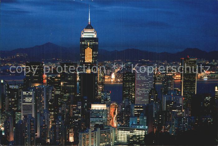 Hongkong Wanchai at night Kat. China