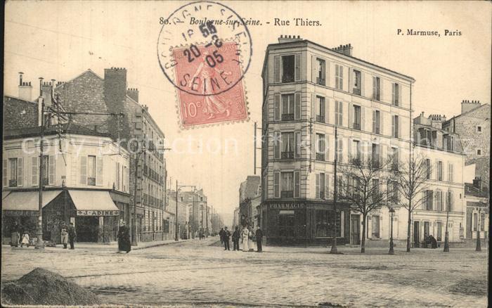 Boulogne sur Seine Rue Thiers Kat. Boulogne Billancourt
