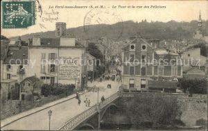 Ferte sous Jouarre La Le Pont et la rue des Pelletiers Kat. La Ferte sous Jouarre