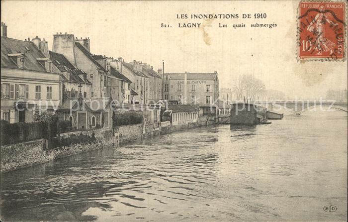 Lagny Les Inondations de 1910 Kat. Lagny