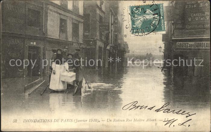 Paris ueberschwemmung Rue Maitre Albert Kat. Paris