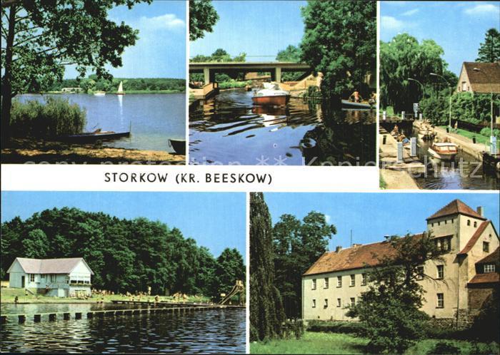 Storkow Mark Storkower See Kanal Schleuse Burg Kat. Storkow Mark