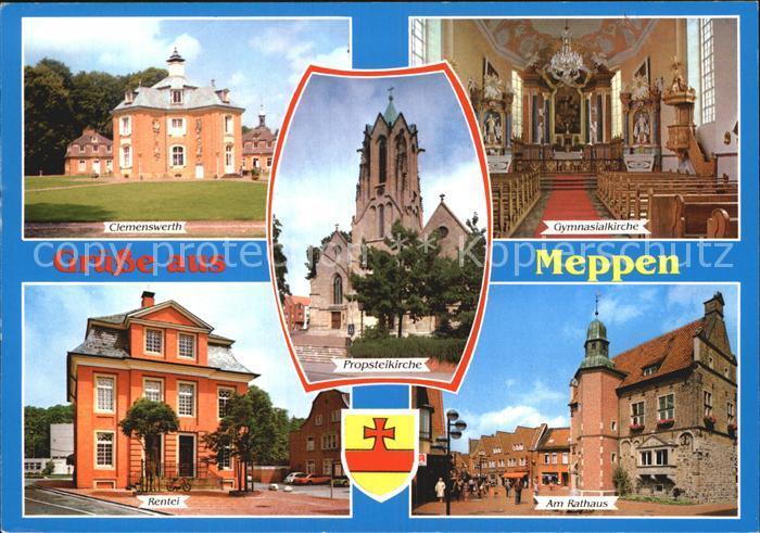 Meppen Clemenswerth Rentei Am Rathaus Gymnasialkirche Kat. Meppen