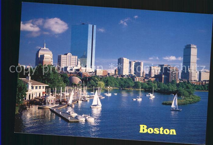 Boston Massachusetts The Charles River Basin and Back Bay Skyline Kat. Boston