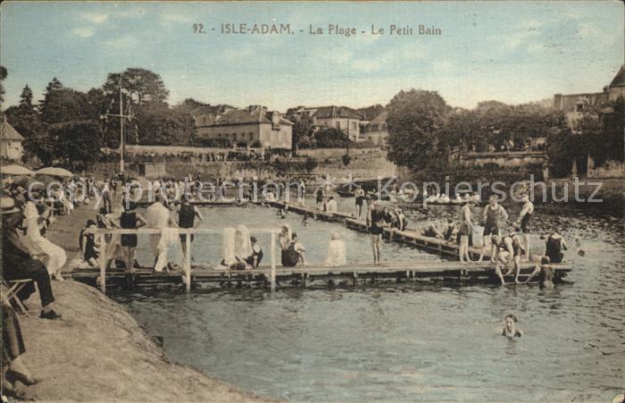 L Isle Adam La Plage le petit bain Kat. L Isle Adam