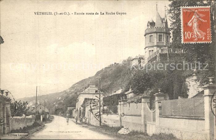 Vetheuil Entree route de La Roche Guyon Kat. Vetheuil