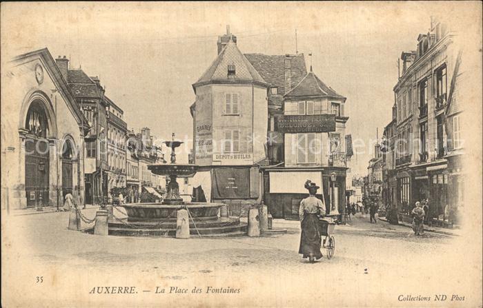Auxerre Place des Fontaines Kat. Auxerre