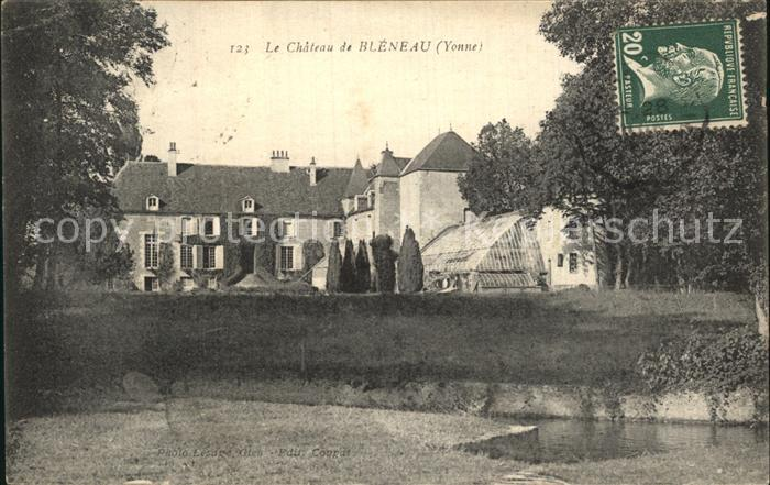 Bleneau Chateau Schloss Kat. Bleneau