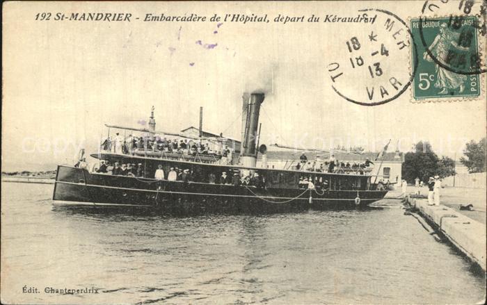 Saint Mandrier sur Mer Embarcadere de l Hopital depart du Kereaudran Bateau Kat. Saint Mandrier sur Mer