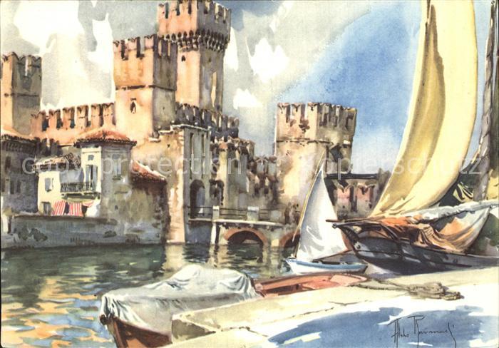 Sirmione Lago di Garda Il Castello il porto Kat. Italien
