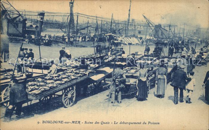 Boulogne sur Mer Les Quais  Kat. Boulogne sur Mer