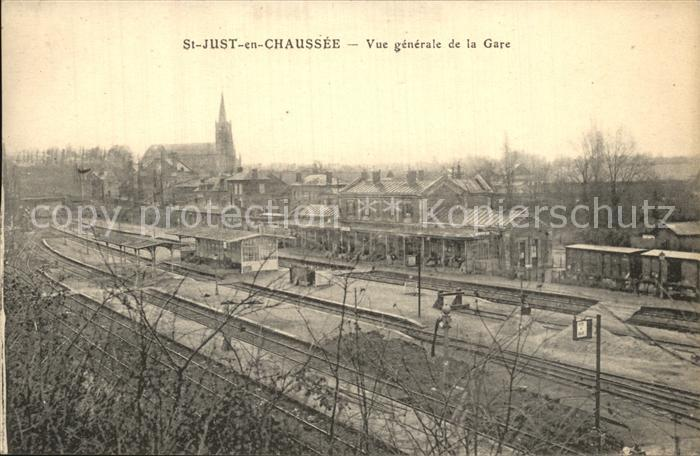 Saint Just en Chaussee Bahnhof  Kat. Saint Just en Chaussee