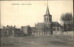 Andeville Place de l`Eglise Kat. Andeville