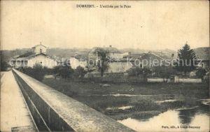 Domremy la Pucelle Vosges L`arrivee par le Pont  Kat. Domremy la Pucelle