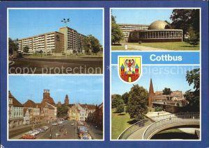 Cottbus  Strasse der Jugend Restaurant Stadttor Planetarium Kat. Cottbus
