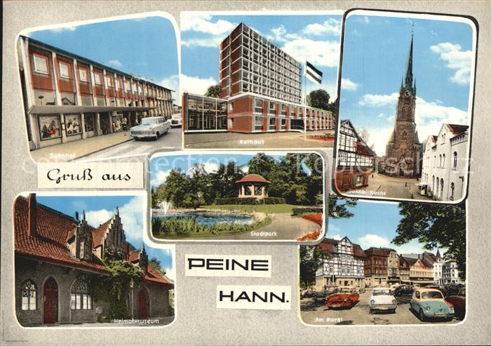 Peine Heimatmuseum Markt Kirche Kat. Peine