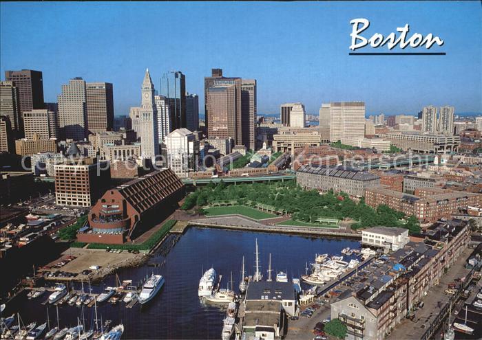 Boston Massachusetts Fliegeraufnahme Kat. Boston