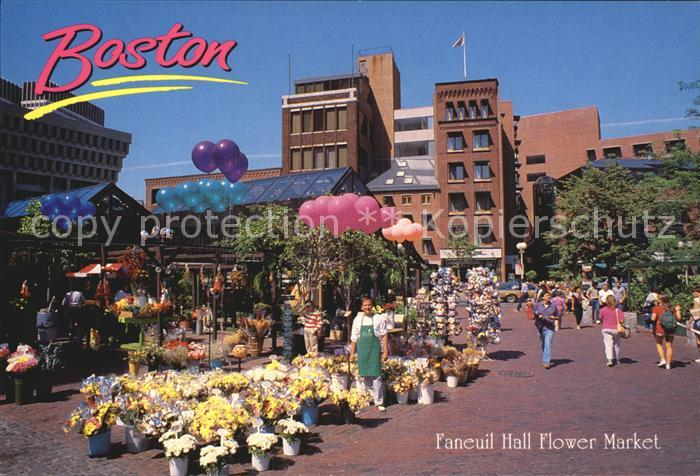 Boston Massachusetts Faneuil Hall Flower Market Kat. Boston