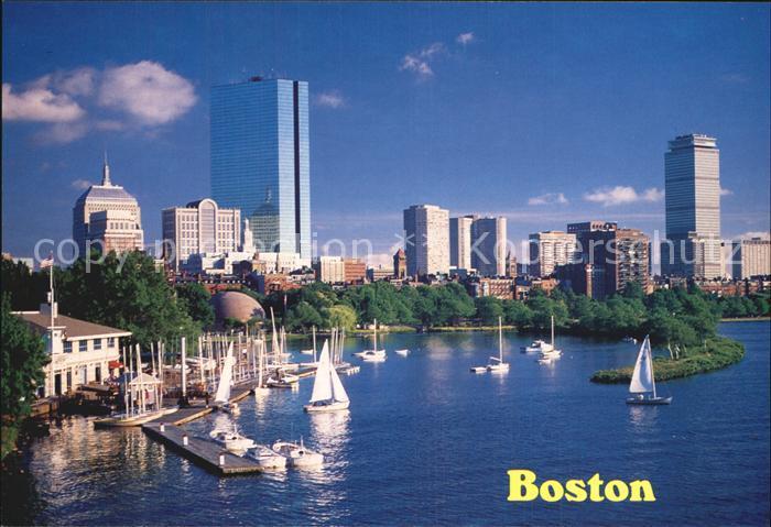 Boston Massachusetts The Charles River and Back Bay Skyline Kat. Boston