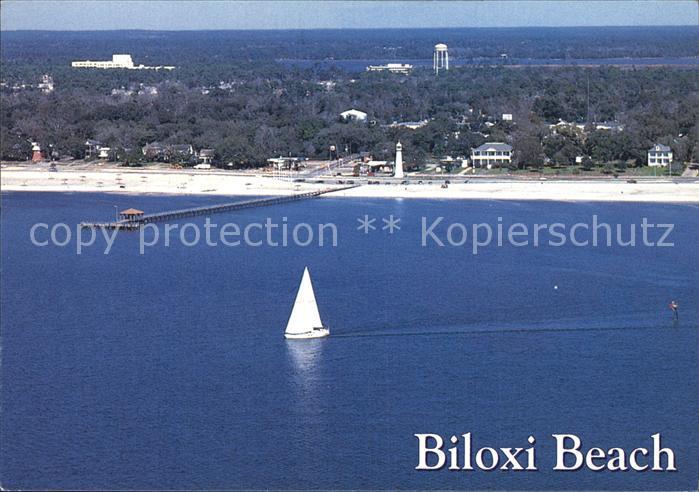 Biloxi Fliegeraufnahme Strand Hafen Leuchtturm Kat. Biloxi
