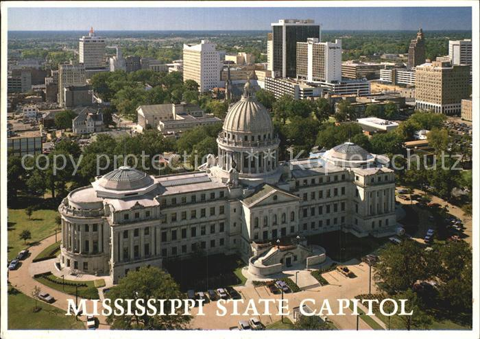 Jackson Mississippi Fliegeraufnahme State Capitol Kat. Jackson
