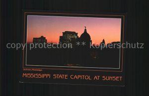 Jackson Mississippi State Capitolat Sunset Kat. Jackson