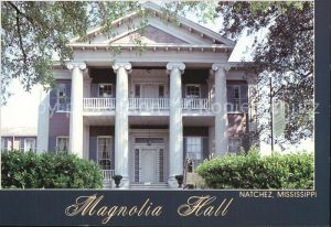 Natchez Mississippi Magnolia Hall Kat. Natchez