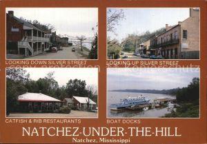 Natchez Mississippi Down Silver Street Catfish Rib Restaurant Boat Docks  Kat. Natchez