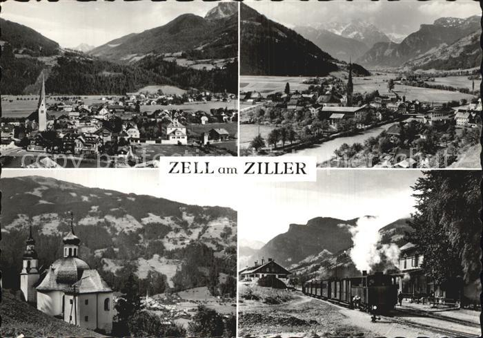 Zell Ziller Tirol Kirche Eisenbahn Panoramen Kat. Zell am Ziller