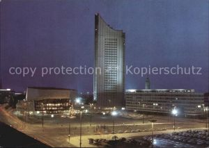 Leipzig Blick zum Karl Marx Platz Nacht Kat. Leipzig