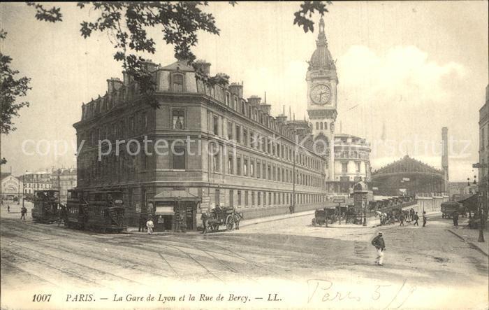 Paris La Gare de Lyon et la Rue de Bercy Kat. Paris