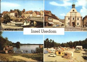 Insel Usedom Wolgast Hafen Rathaus Koelpinsee Zempin Campingplatz