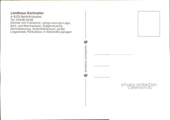 Reith Kitzbuehel Landhaus Gschnaller Kat. Reith bei Kitzbuehel Nr ...