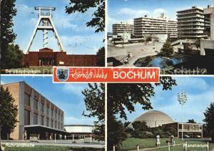 Bochum Bergbaumuseum Planetarium Ruhruniversitaet Ruhrlandhalle Kat. Bochum