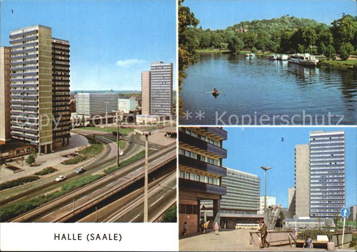 Halle Saale Hochstrasse Ernst Thaelmann Platz Saalepartie  Kat. Halle