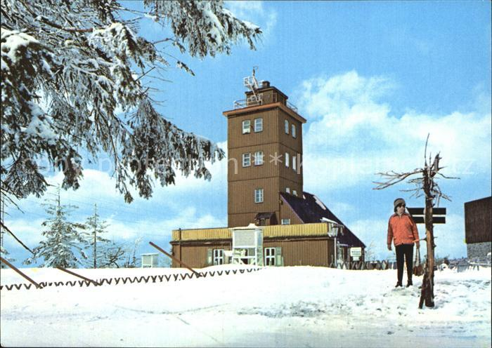 Oberwiesenthal Erzgebirge Wetterwarte Fichtelberg Winter Kat. Oberwiesenthal