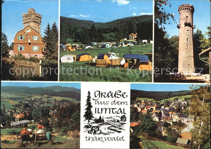 Ilmtal Hohe Warte Campingplatz Meyersgrund Kickelhahn Stuetzerbach Kat. Ilmtal