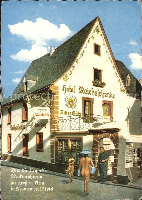 Kroev Mosel Hotel Reichsschenke Zum Ritter Goetz Nacktarsch Kat. Kroev