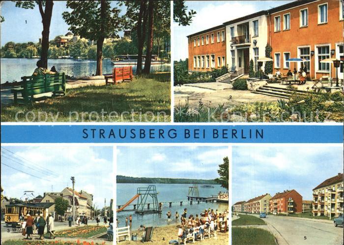 Strausberg Brandenburg Faehre Straussee HO Hotel Grosse Strasse  Kat. Strausberg
