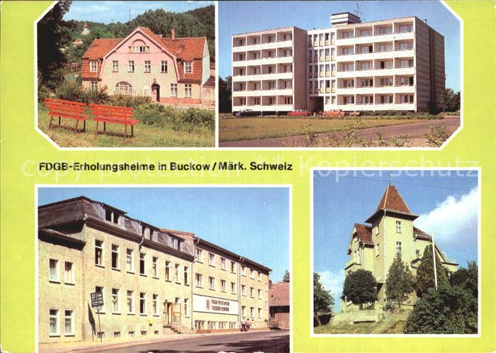 Buckow Maerkische Schweiz FDGB Erholungsheime Maerkische Schweiz Theodor Fontane  Kat. Buckow Maerkische Schweiz